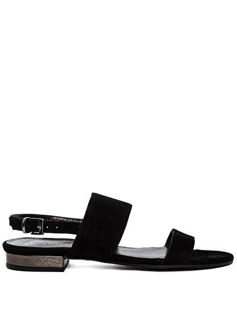 Nine West %100 Süet Sandalet Siyah